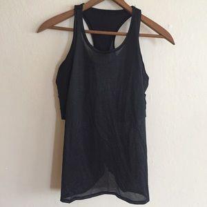 LuluLemon sports bra with mesh overlay size 4